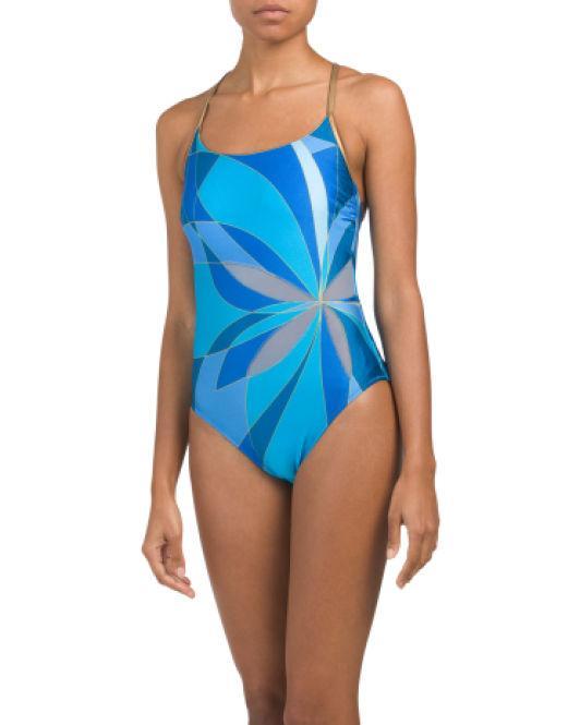 766124c0115fc Lyst - Tj Maxx Kaleidoscope One Piece Swimsuit in Blue