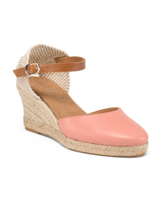 3e8bee5d50 Lyst - Tj Maxx Made In Spain Leather Espadrille Wedges in Natural