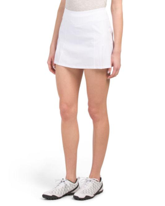 a2949e5434 Lyst - Tj Maxx Woven Pleated Golf Skort in White