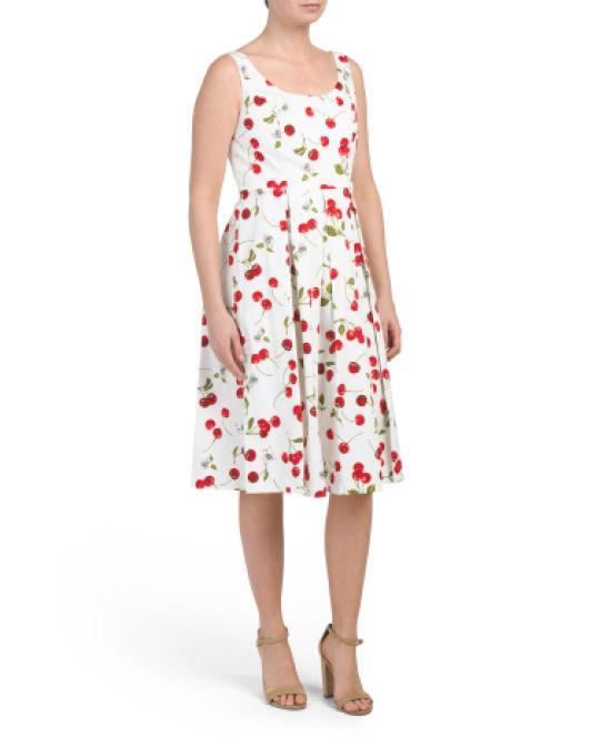 0c347cf5c5843 Lyst - Tj Maxx Sleeveless Fit And Flare Dress