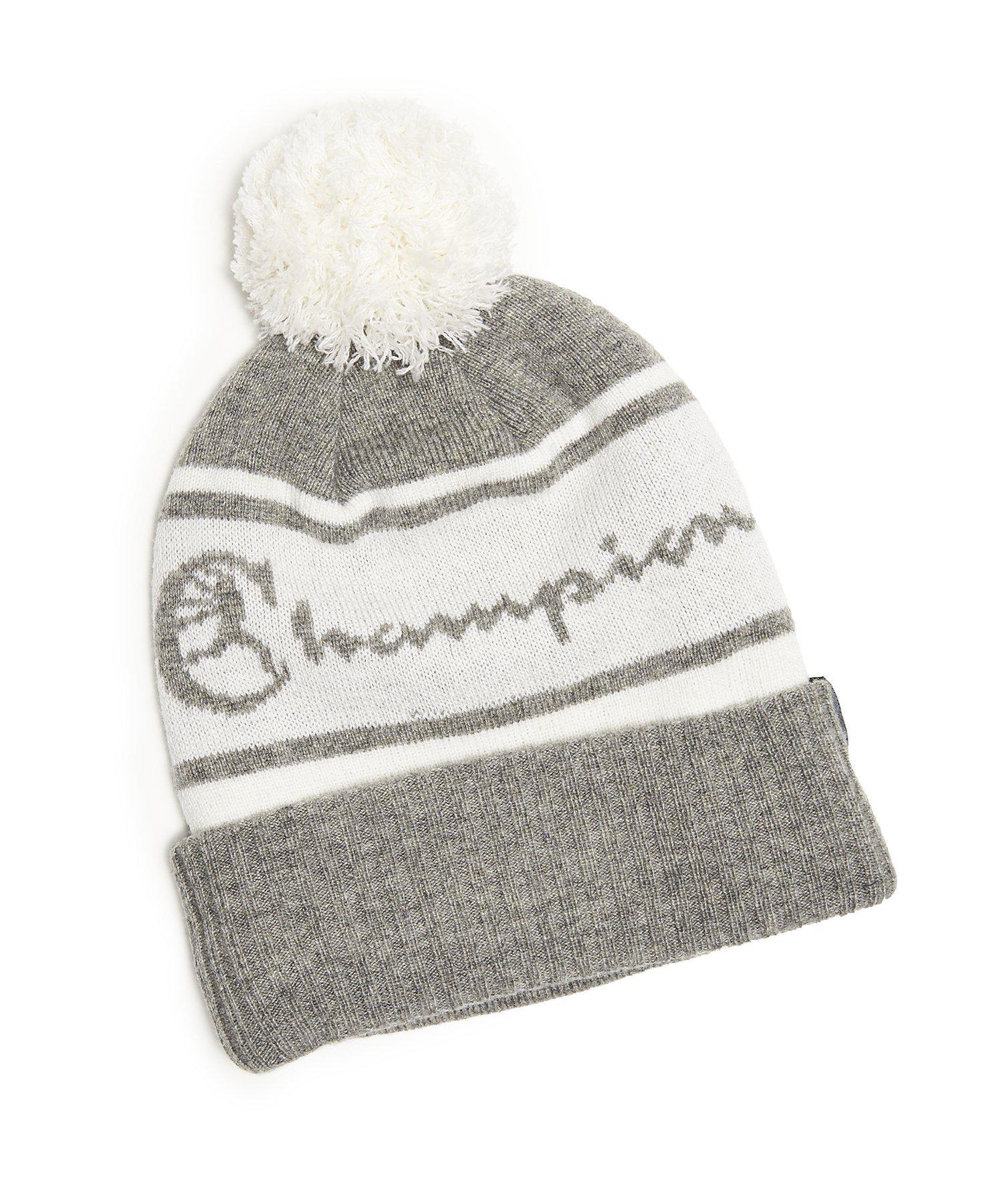 b40b35de3e0 New Era Hats Champion + New Era Pom Pom Beanie In Grey in Gray for ...