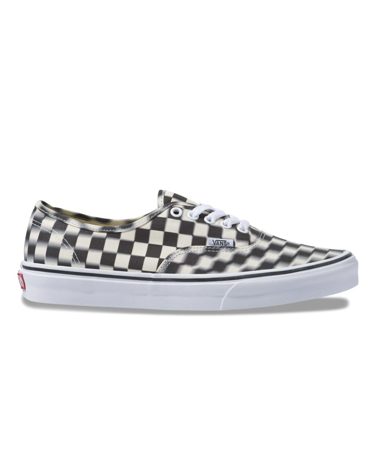 d102062624f Vans Blur Check Authentic in White for Men - Save 43% - Lyst