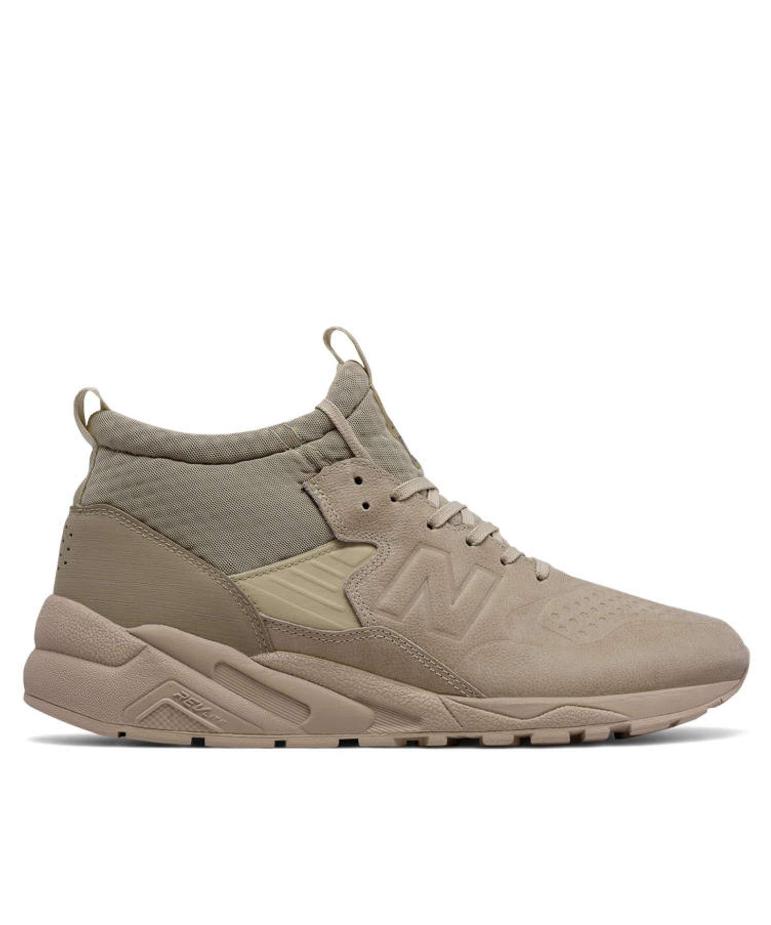 new balance men's 580 deconstructed mid trainers beige