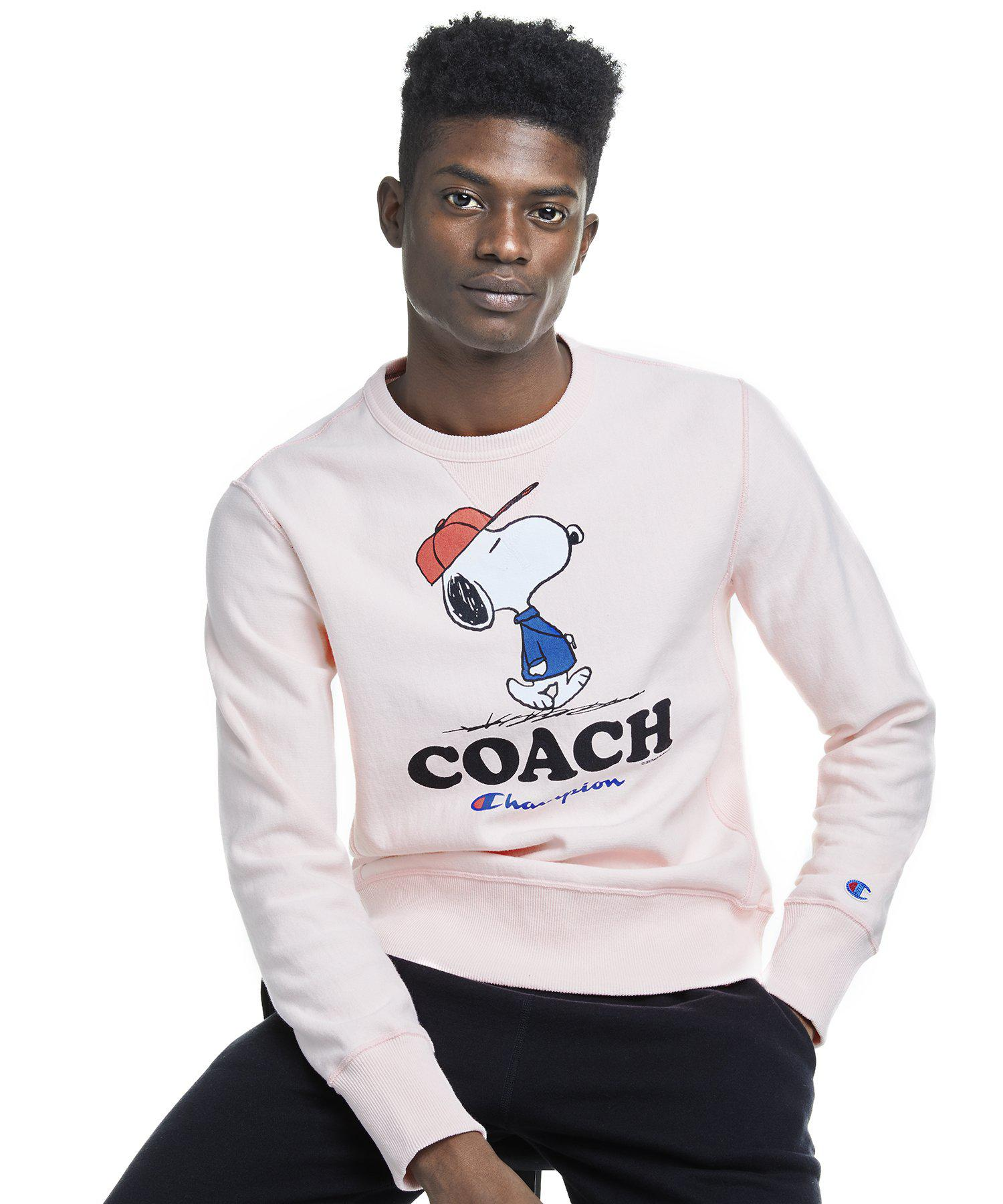 dc2a4cbae1 Lyst - Todd Snyder Champion X Peanuts Snoopy Coach Sweatshirt In ...