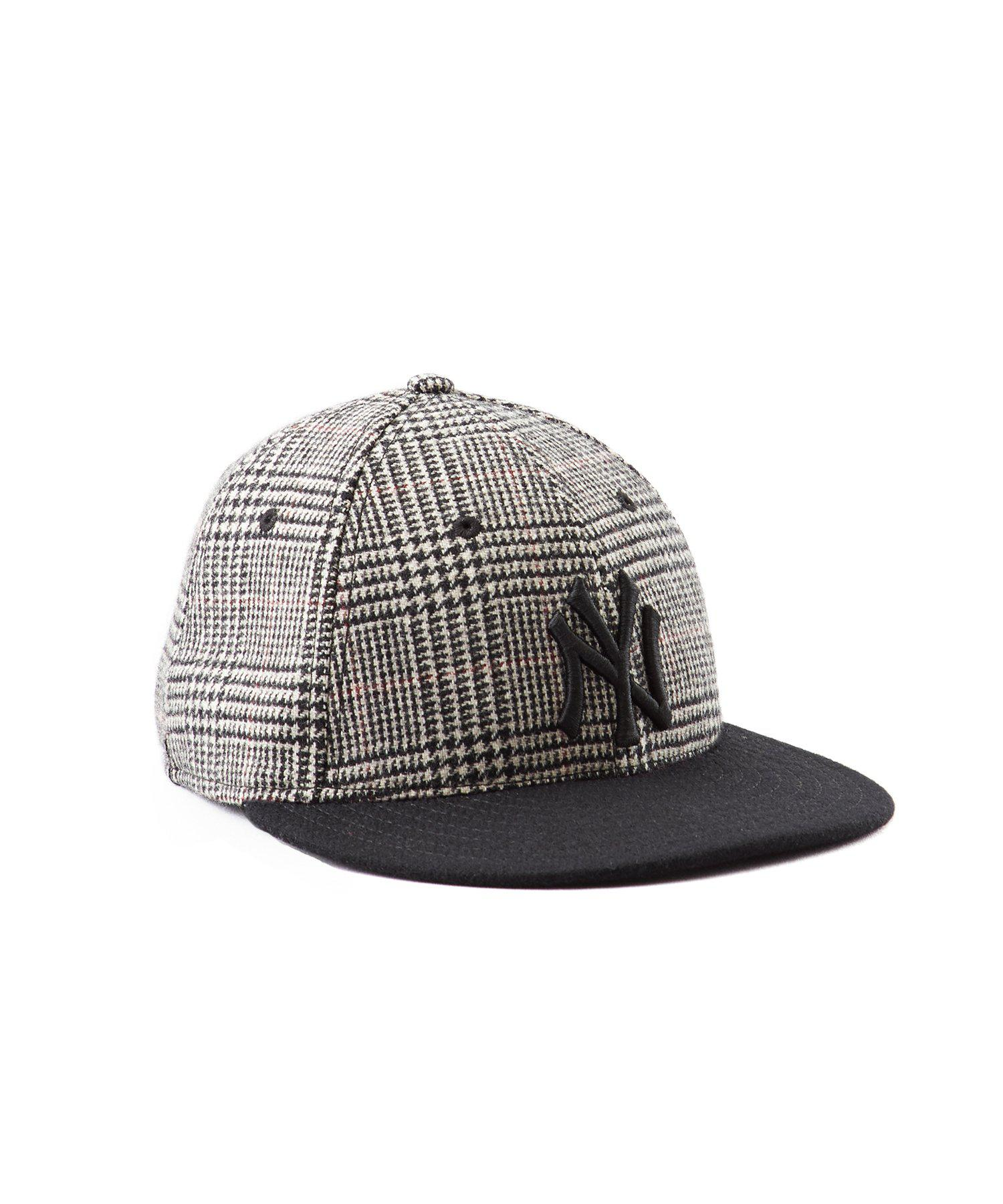 c741e51f9de Lyst - NEW ERA HATS Ny Yankees Glen Plaid Wool Hat in Gray for Men