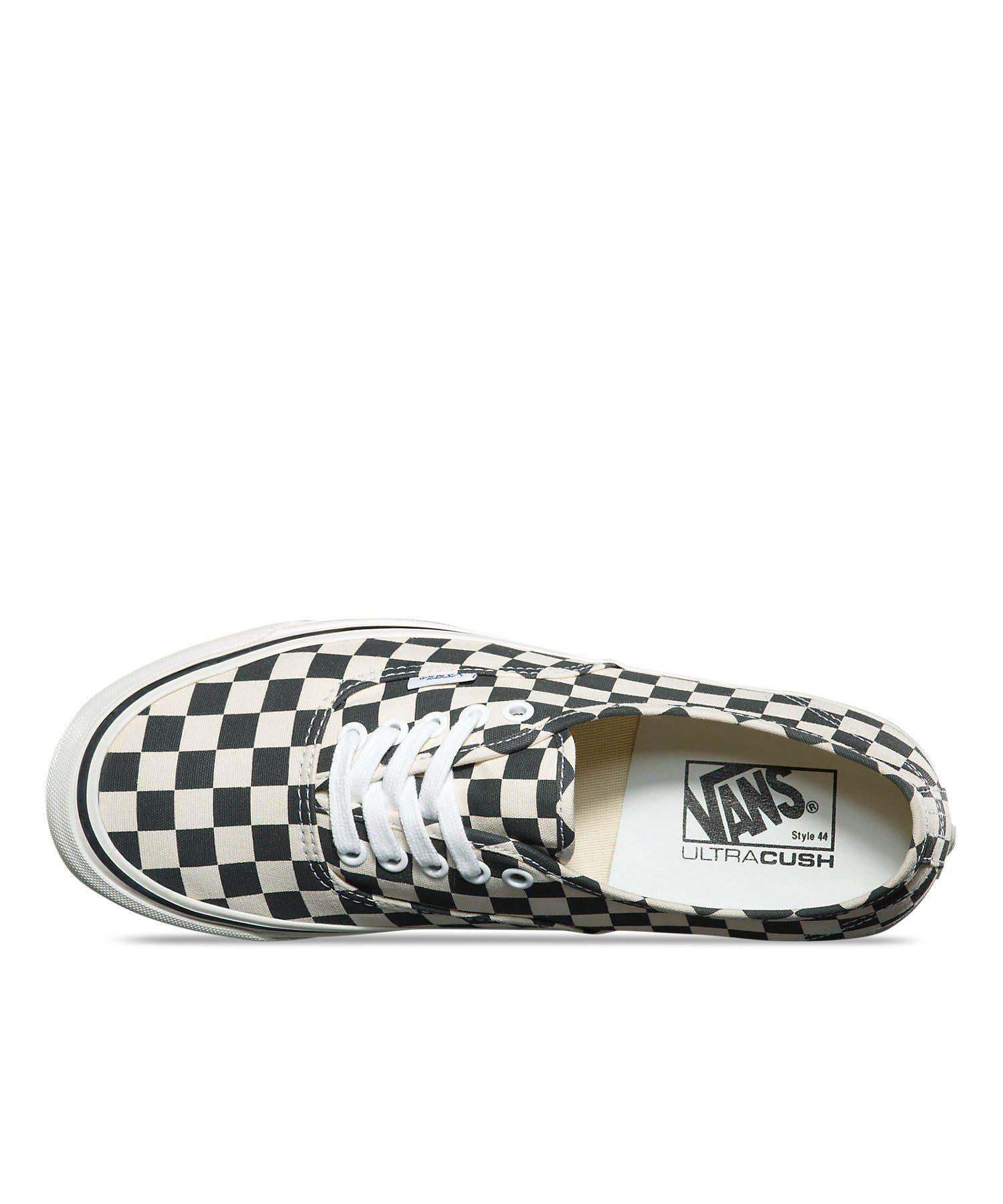 420104e2cd94c7 Lyst - Vans Anaheim Factory Authentic 44 Dx In Black Checkerboard in ...
