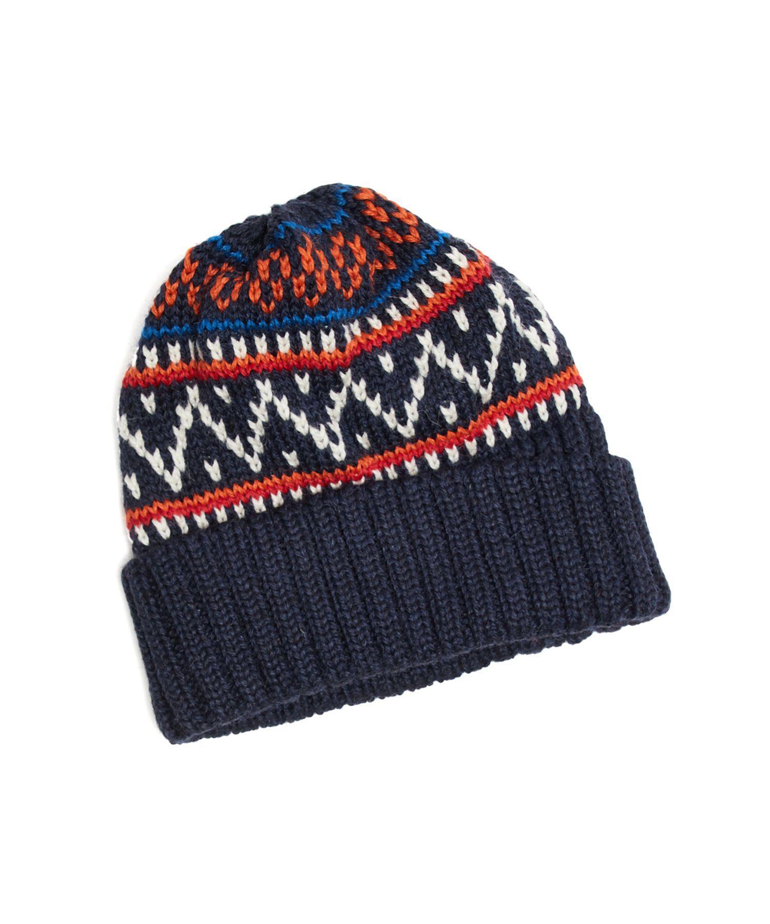 c83c0031620 Drake S Drakes  Navy Nordic Wool Hat in Blue for Men - Lyst