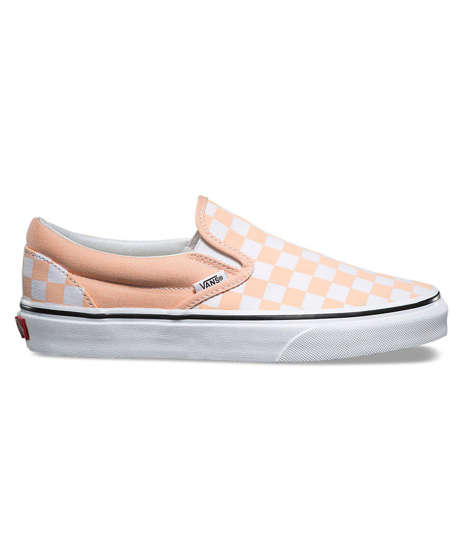 Vans Classic Checkerboard Slip-on In Bleached Apricot in Orange for ... c7847a6b7