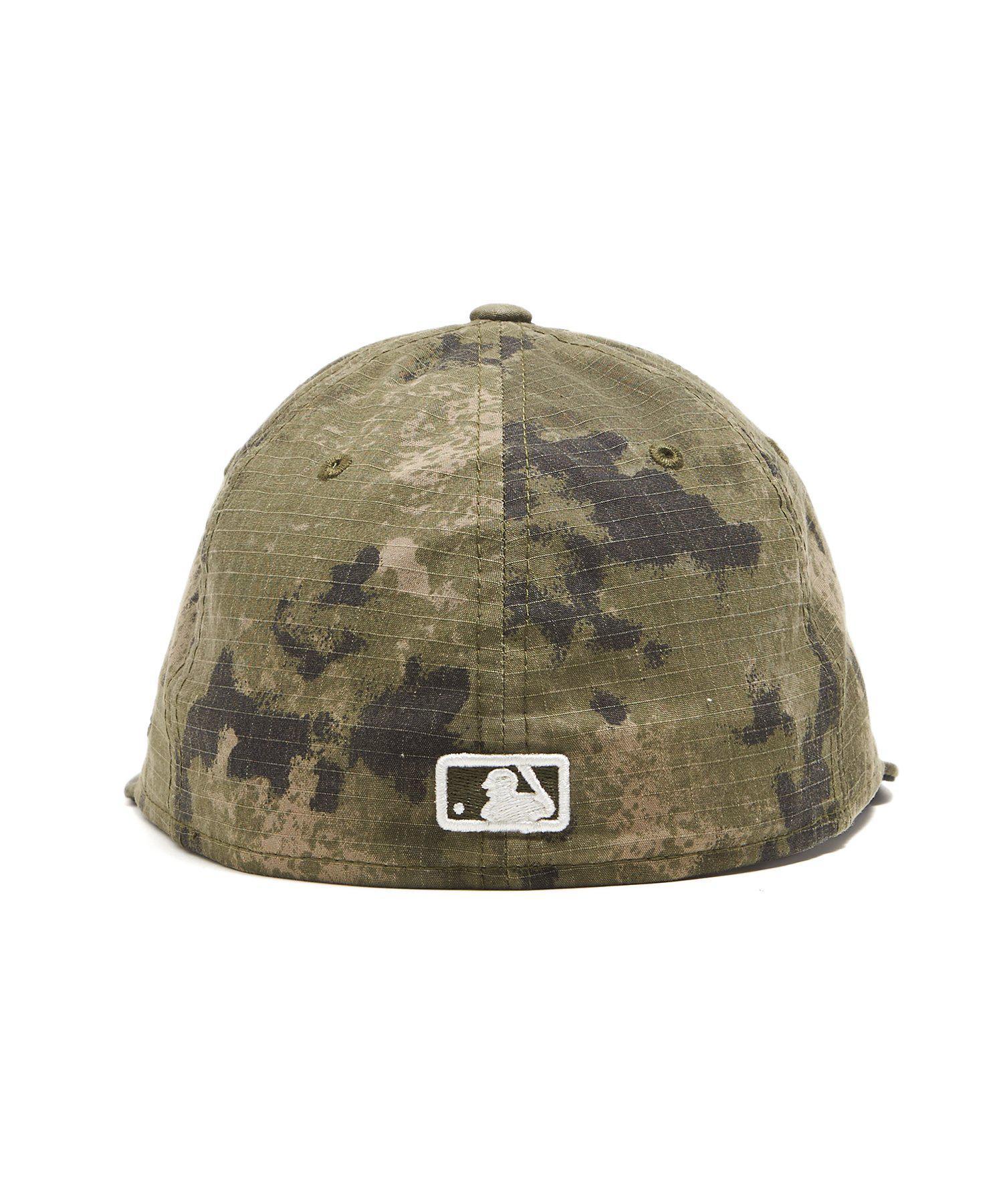 1c18e4333d7 Lyst - NEW ERA HATS New York Yankees Cap In Camo Ripstop in Green ...