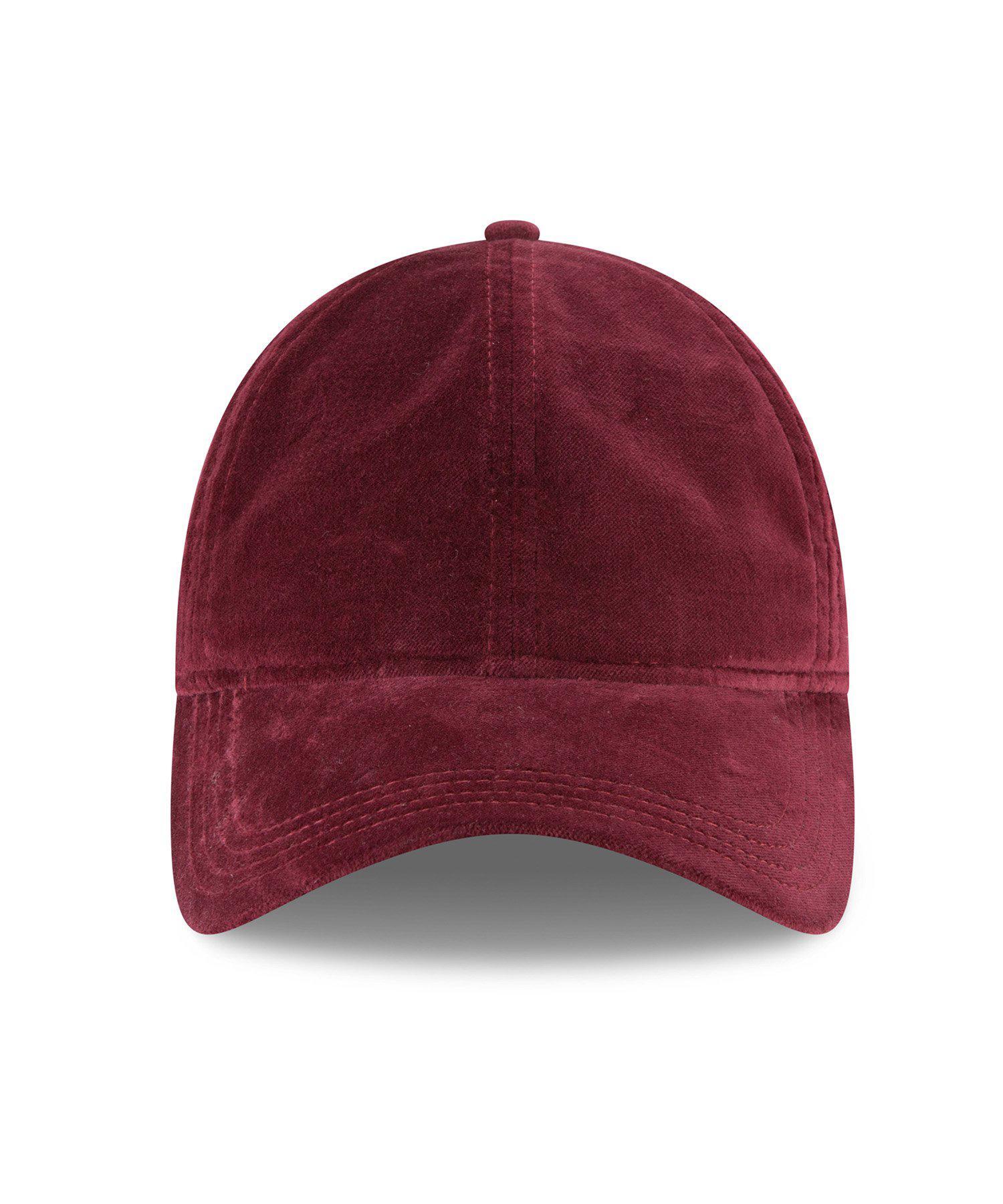 0417e245371 ... New Era Velvet 9twenty Cap In Maroon for Men - Lyst. View fullscreen