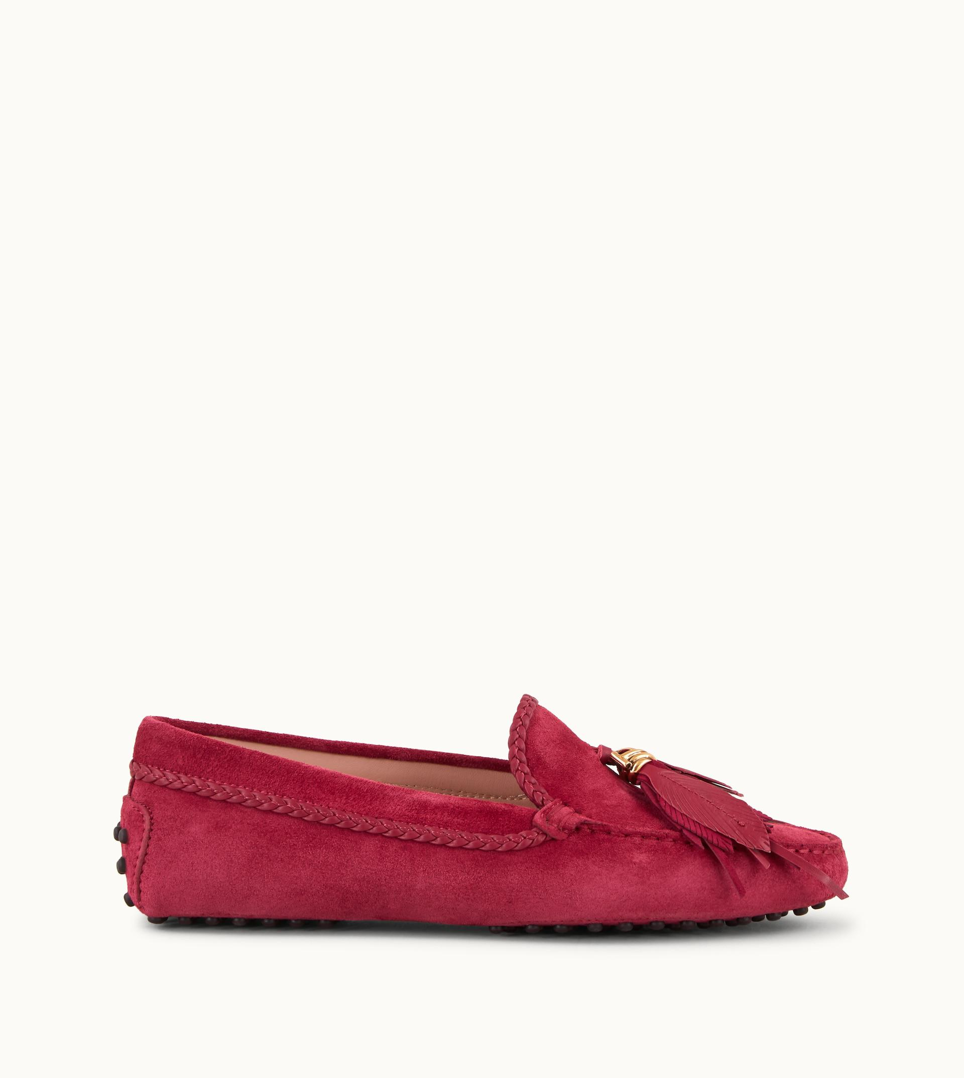 208dc339941 Lyst - Tod s Gommino Driving Shoes In Suede in Red