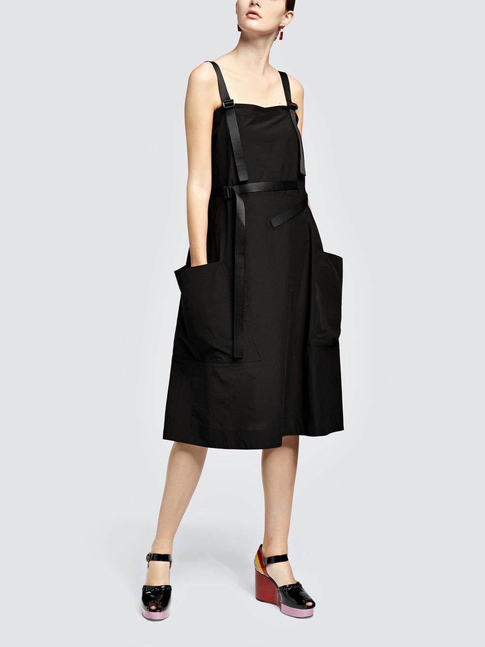 Cotton-poplin Dress - Black Tomas Maier fi7N6UC
