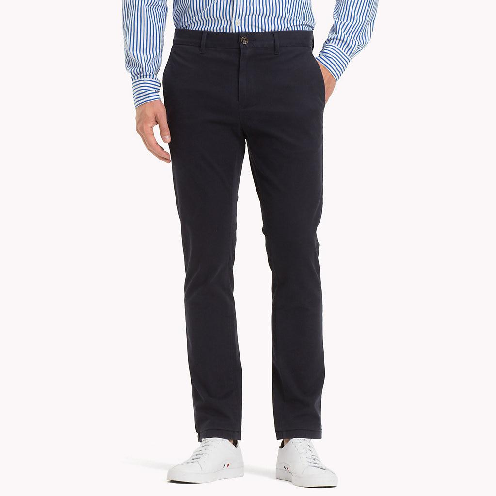33442324e Tommy Hilfiger Pima Cotton Straight Fit Chinos in Blue for Men - Lyst