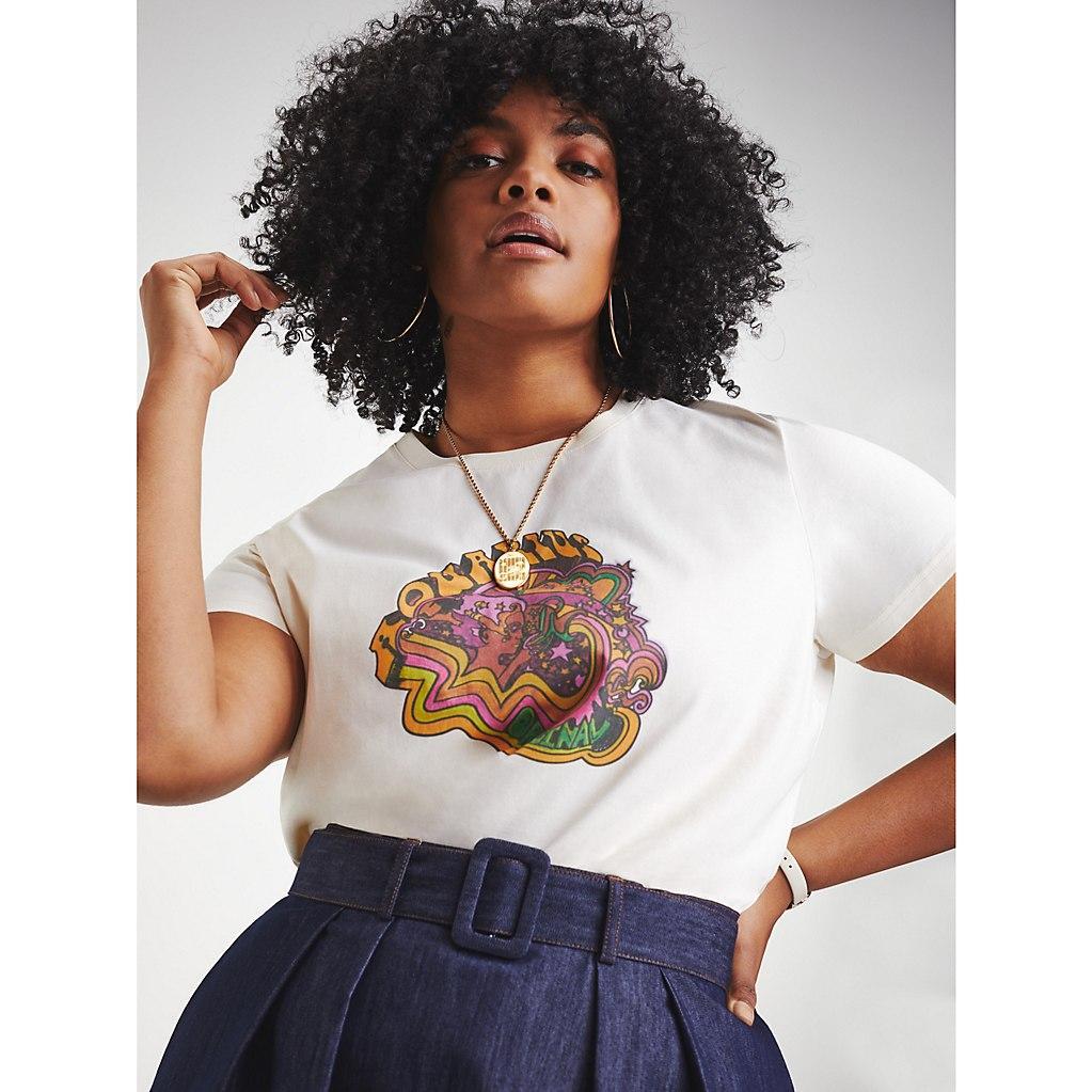 fc58f110e9b zendaya tommy hilfiger zodiac Tommy Hilfiger Zendaya Curve Organic Cotton  Zodiac T-shirt in .