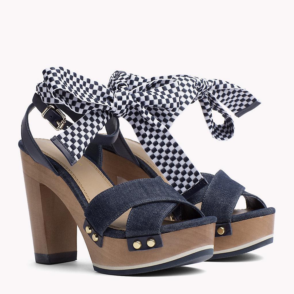 2e91494441934 Tommy Hilfiger Denim Clog Sandals in Blue - Lyst