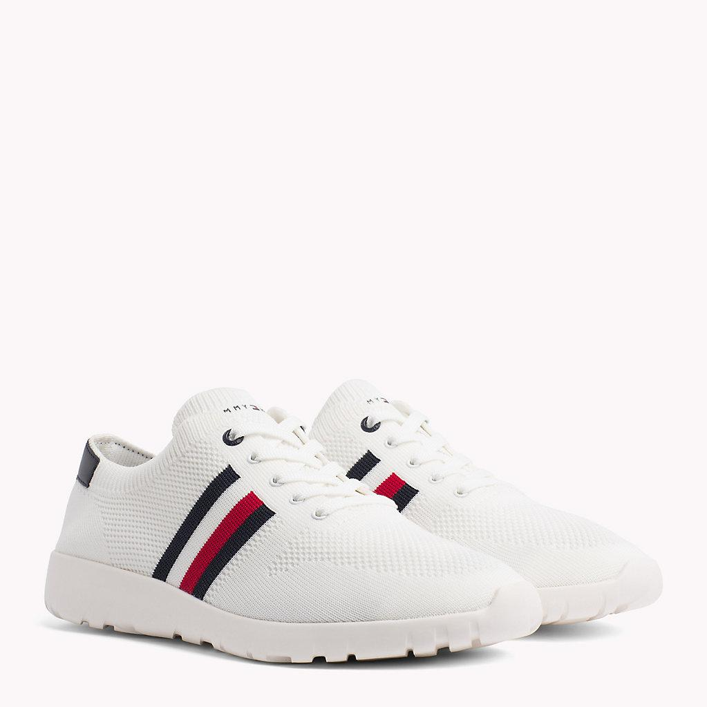 19651ca53ea88 Tommy Hilfiger Lightweight Knitted Runners in White - Lyst
