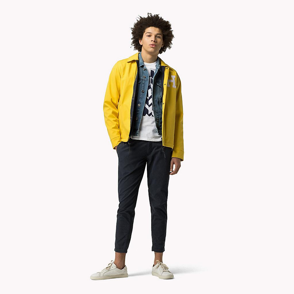 ef027a02 Tommy Hilfiger Varsity Coach Jacket in Yellow for Men - Lyst