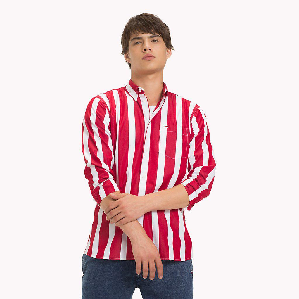 44e08e18ab Tommy Hilfiger Tommy Classics Stripe Shirt in Red for Men - Save 3 ...