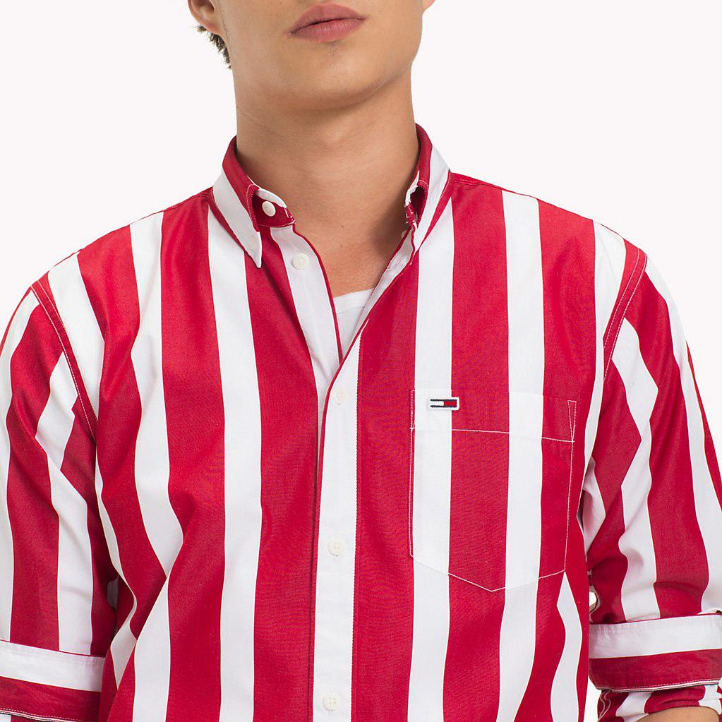 931530144e Tommy Hilfiger - Red Tommy Classics Stripe Shirt for Men - Lyst. View  fullscreen