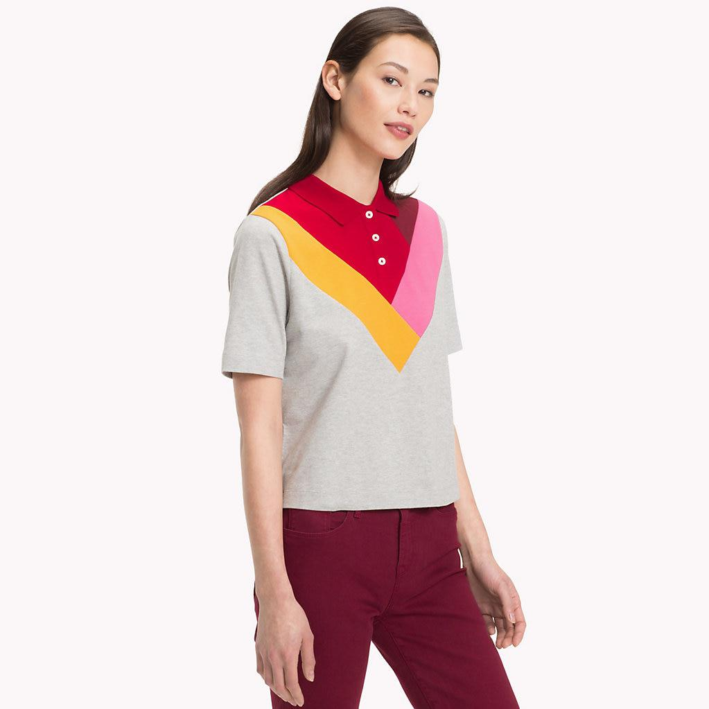 521b2985a Tommy Hilfiger Relaxed Fit Chevron Polo Shirt - Lyst