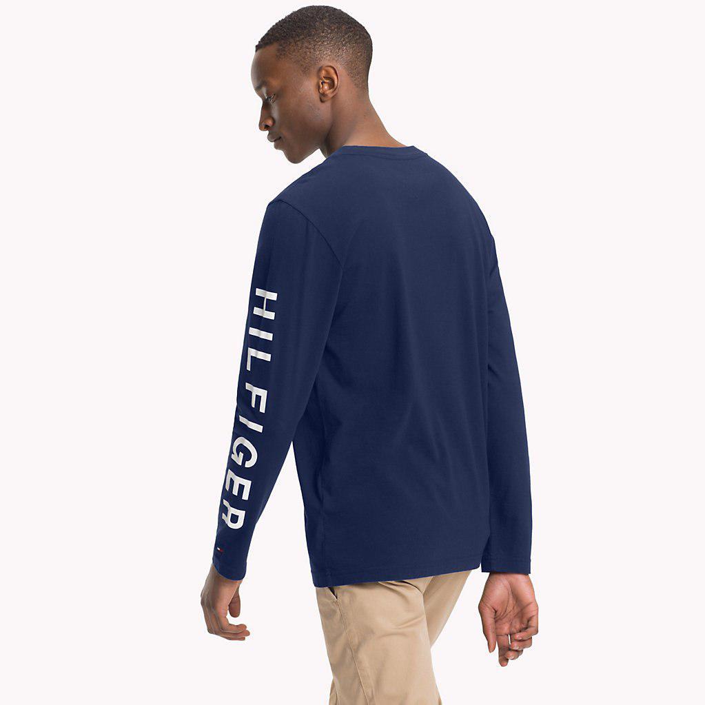 98d44663c4eb67 Tommy Hilfiger - Blue Nyc Long Sleeve T-shirt for Men - Lyst. View  fullscreen