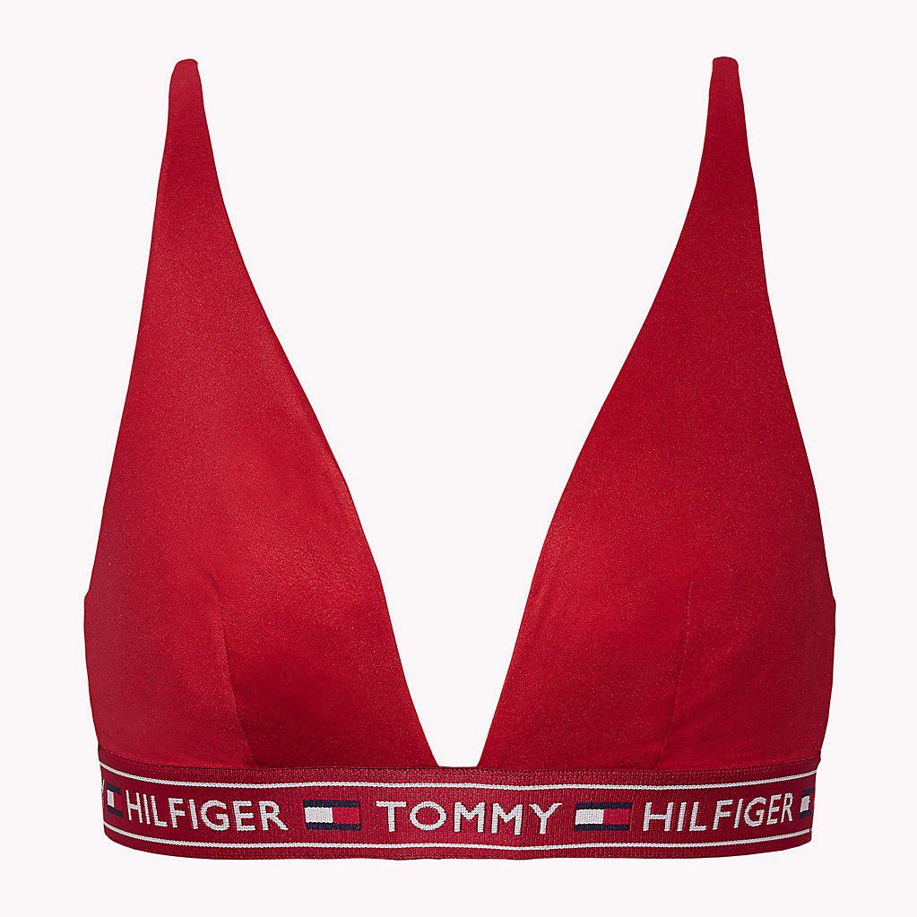 8b4b8cc31c388 Tommy Hilfiger - Red Authentic Microfibre Triangle Bralette - Lyst. View  fullscreen