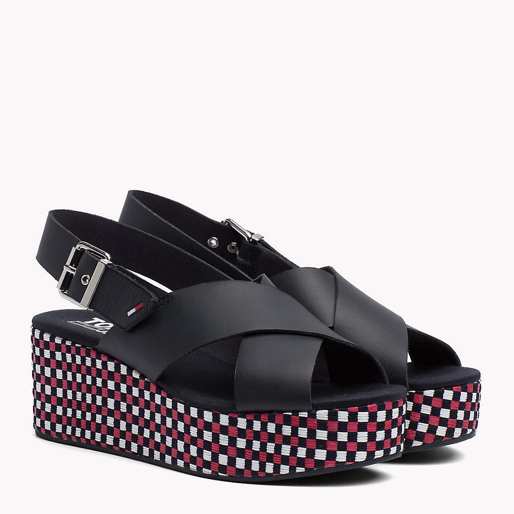 Tommy Jeans Flatform Gingham Pattern Sandale vMsEF3wpQH