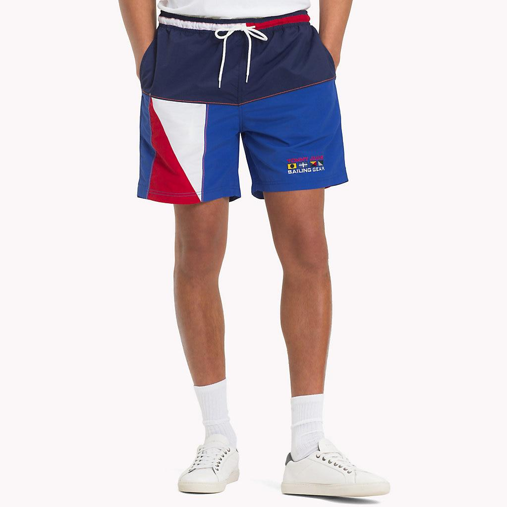 ba734d15 Tommy Hilfiger 90s Colour-blocked Sailing Shorts in Blue for Men - Lyst