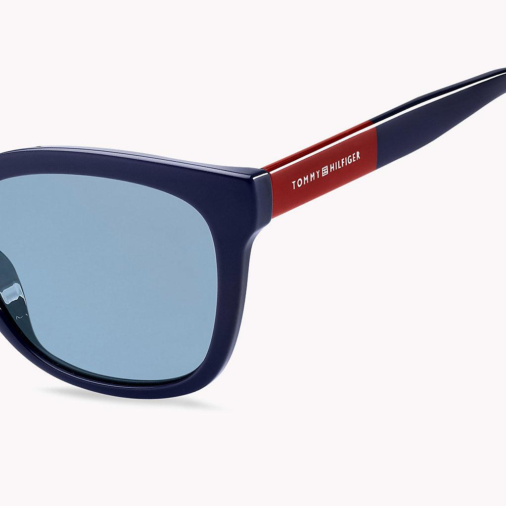 7edfdc41679ba Tommy Hilfiger Oversize Cat-eye Sunglasses in Blue - Lyst
