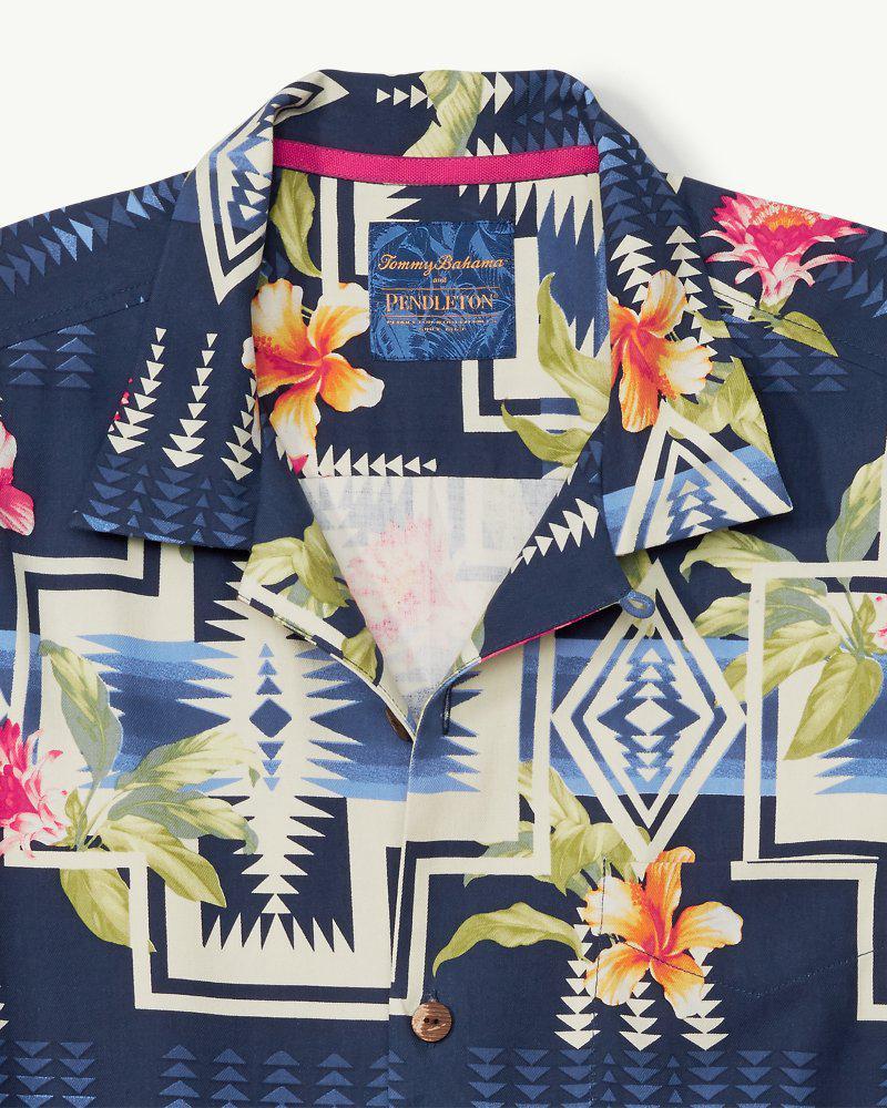 66ab5215 Tommy Bahama & Pendleton® Aloha Harding Camp Shirt in Blue for Men ...