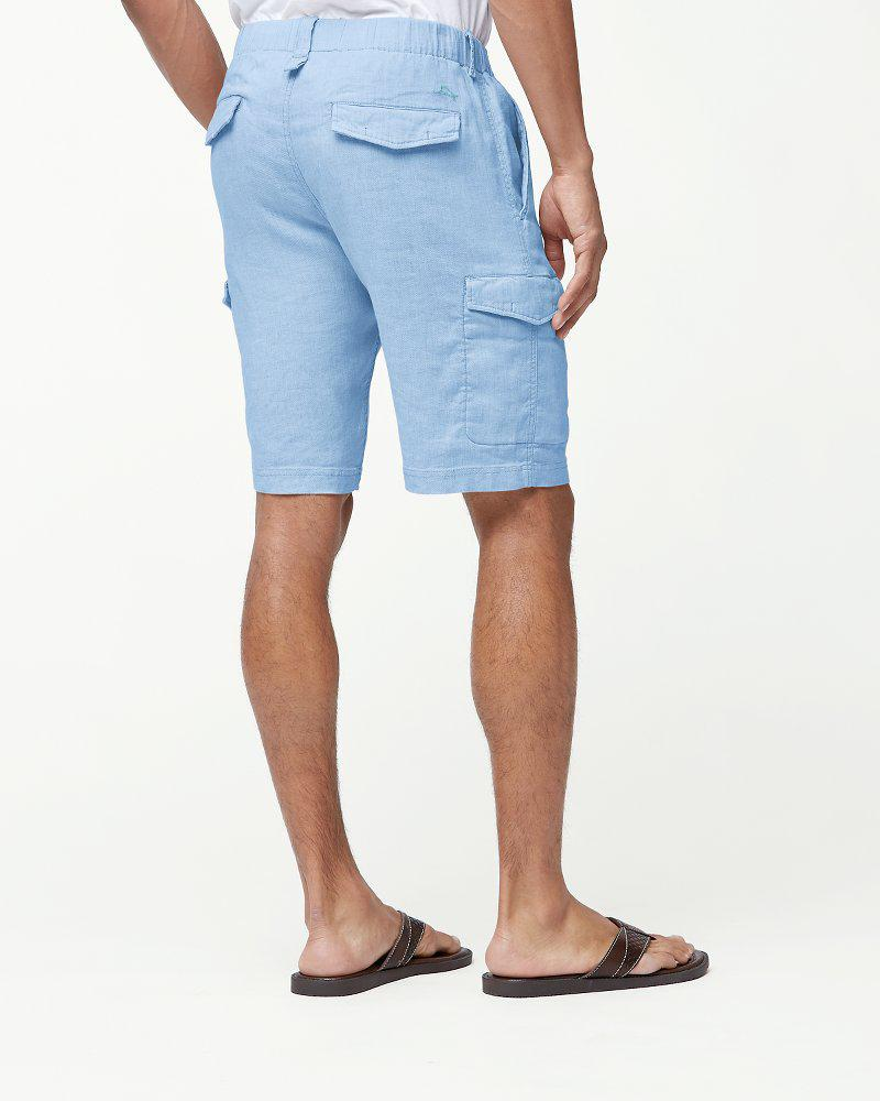 189733b762 Lyst - Tommy Bahama Beach Linen 10-inch Cargo Shorts in Blue for Men