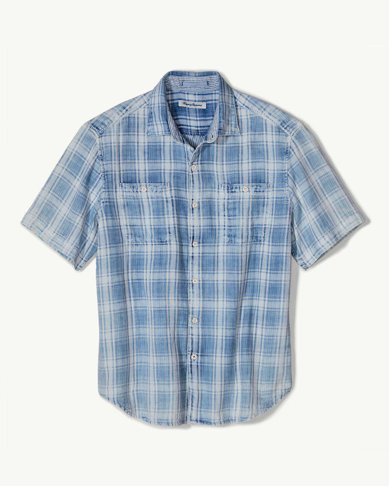 d31a0d2523301 Lyst - Tommy Bahama Soleil Del Fade Camp Shirt in Blue for Men