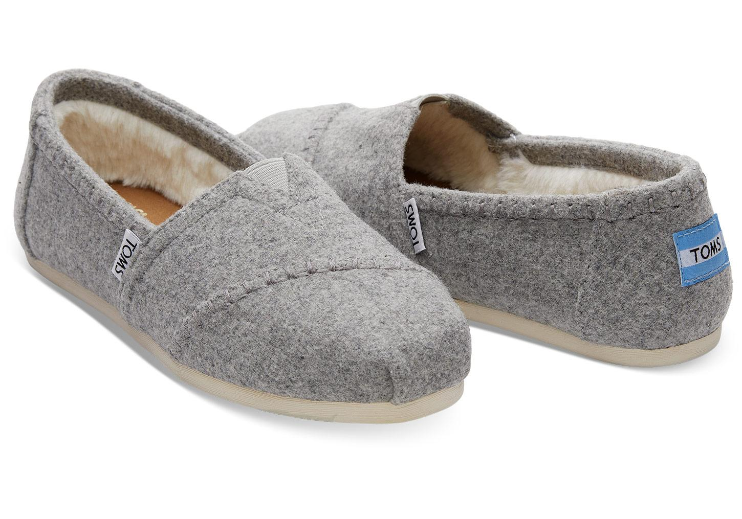 TOMS Drizzle Grey Wool Women s Classics in Gray - Lyst 6cf06912a0