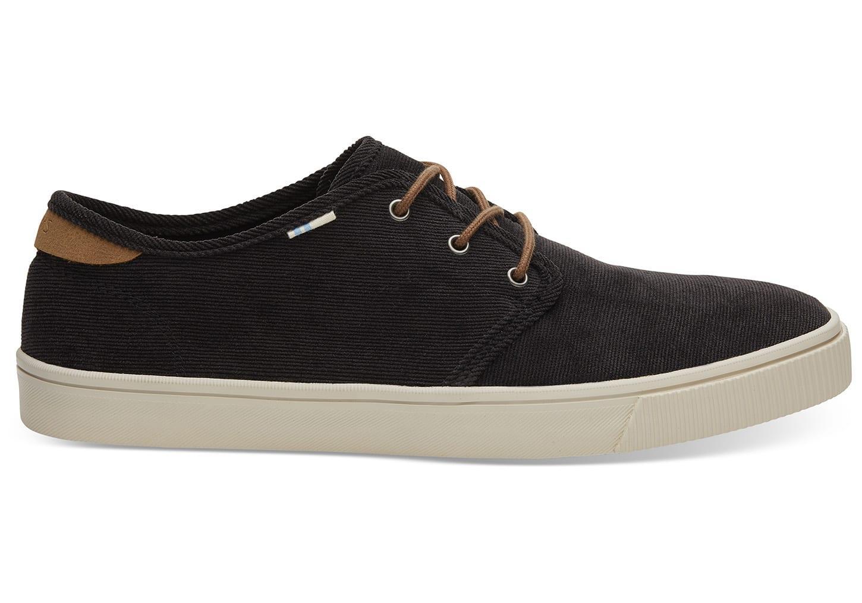 6508e6bca39 Lyst - TOMS Black Micro Corduroy Men s Carlo Sneakers Topanga ...