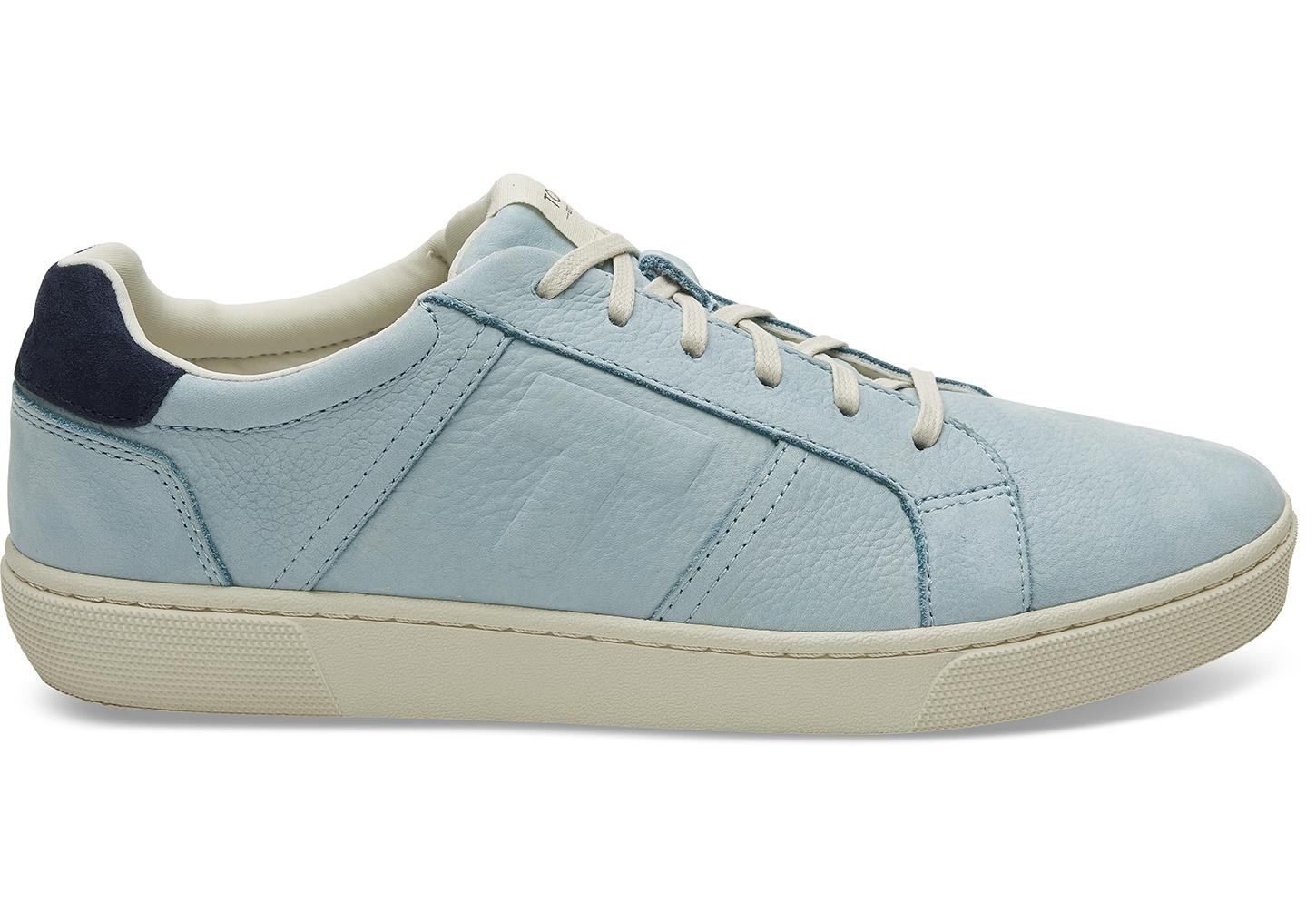 c12aa59831c6 Lyst - TOMS Pastel Turquoise Nubuck Leather Mens Leandro Sneakers in ...