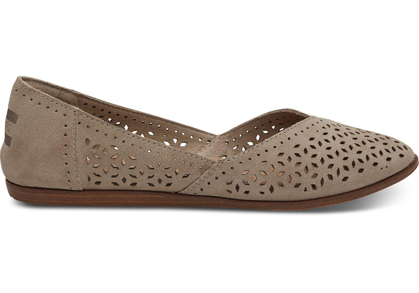 f93492271a99 Lyst - Toms Desert Taupe Perforated Suede Women s Jutti Flats for Men