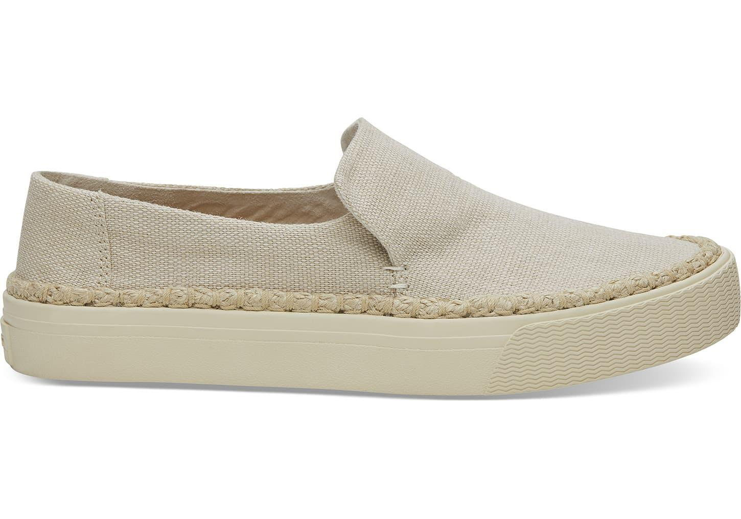 58389db493f TOMS Natural Heritage Canvas Women s Sunset Slip-ons in Natural - Lyst