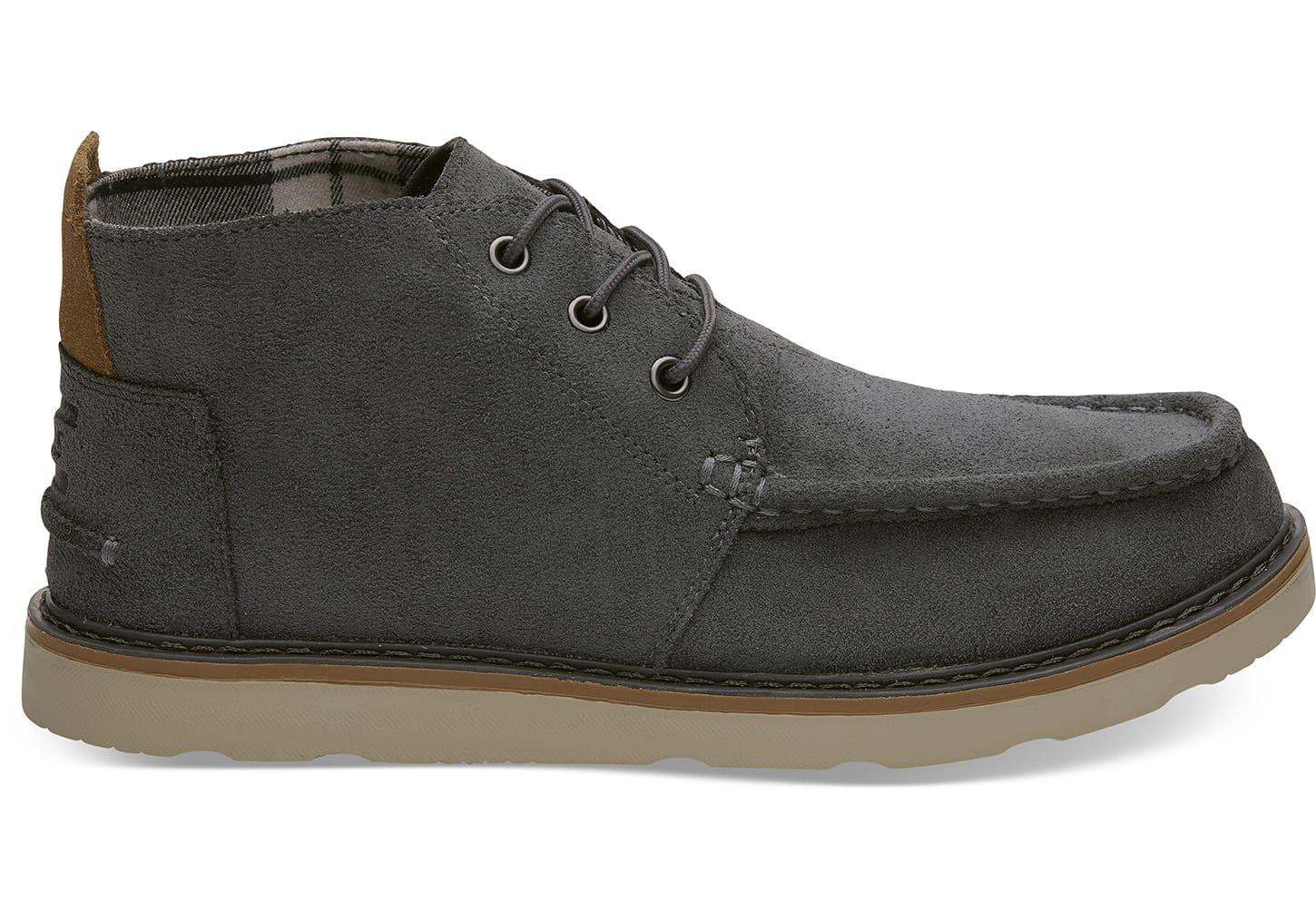 bc041eb9ac3 TOMS - Gray Waterproof Dark Grey Oiled Suede Men s Chukka Boots for Men -  Lyst. View fullscreen