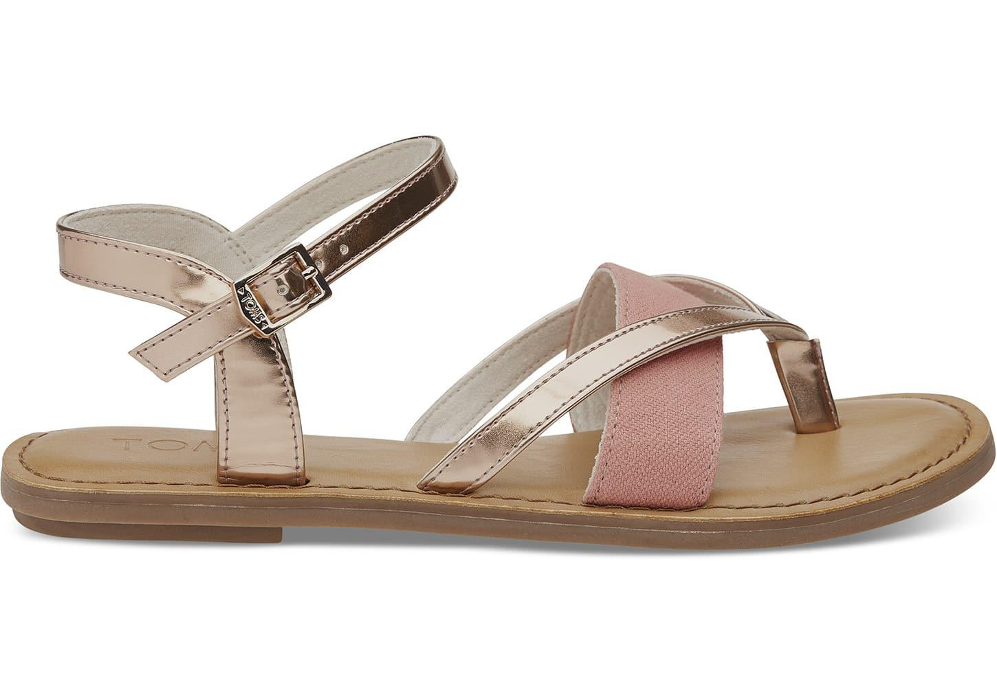 c2261b34fc18 Lyst - TOMS Rose Gold Specchio Women s Lexie Sandals