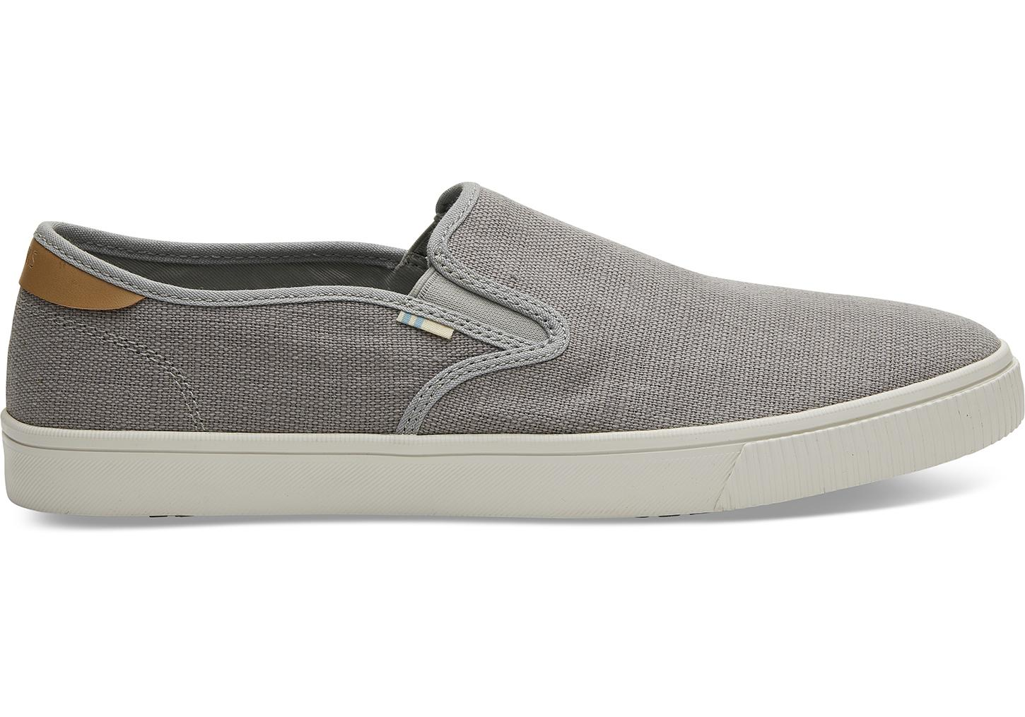c70085a8dae TOMS Drizzle Grey Heritage Canvas Mens Baja Slip-ons in Gray for Men ...