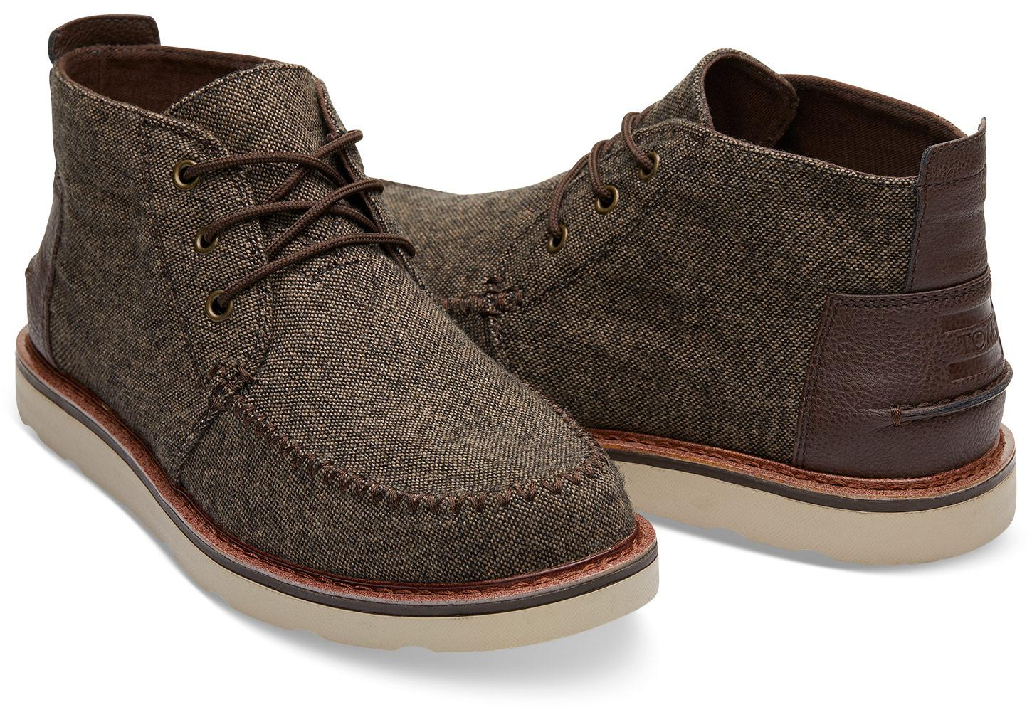 72122e84d87 Lyst - TOMS Chocolate Brown Brushed Wool Men s Chukka Boots in Brown ...