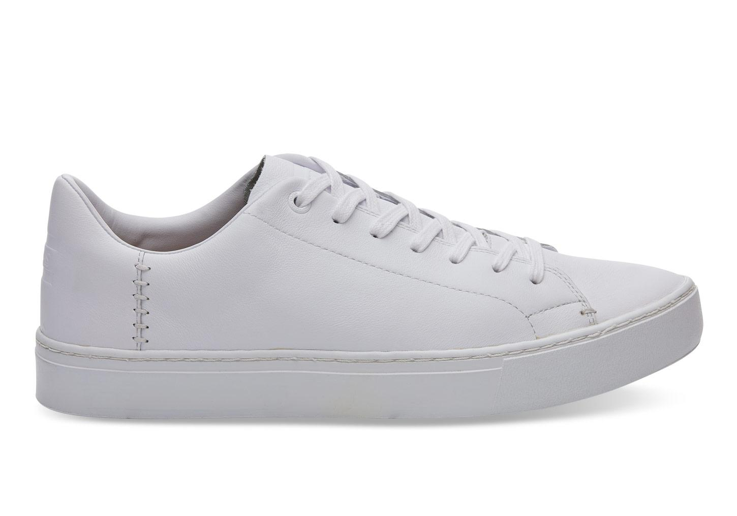 087bb36381 TOMS White Leather Men's Lenox Sneakers in White for Men - Lyst