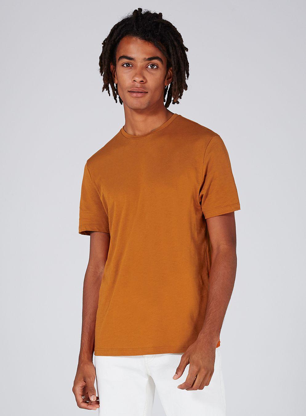8e268517f59b Lyst - TOPMAN Rust Lightweight T-shirt in Orange for Men