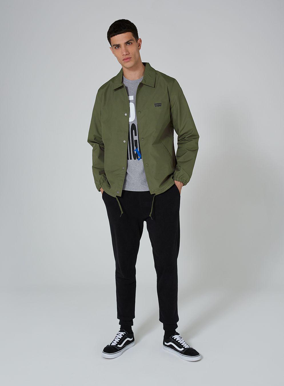 d4a72f466 Men Green Jacket Coach Khaki In For Levi's Lyst Topman tqx0vXwRt