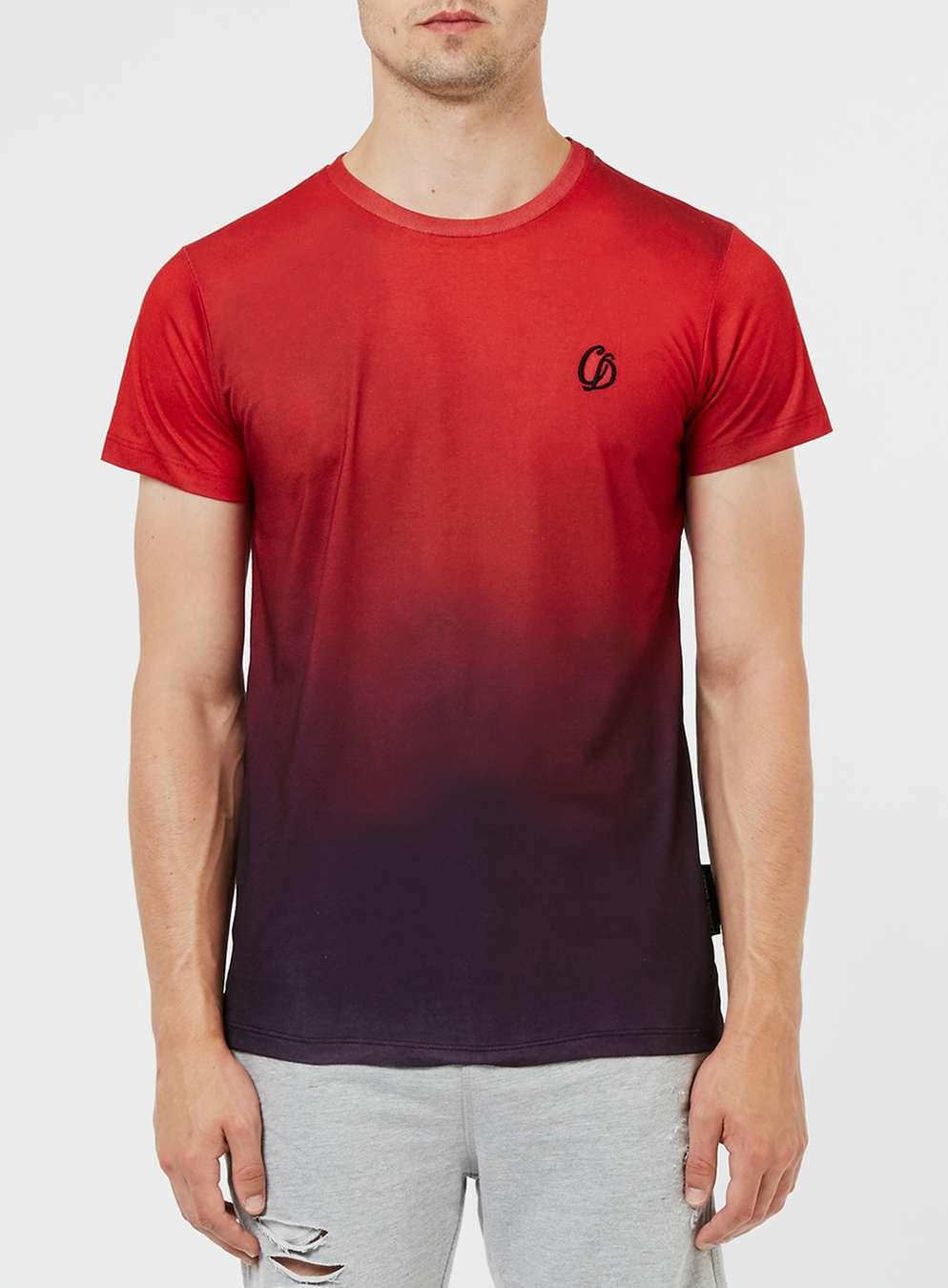 criminal damage red and purple dip dye t shirt in black for men red lyst. Black Bedroom Furniture Sets. Home Design Ideas