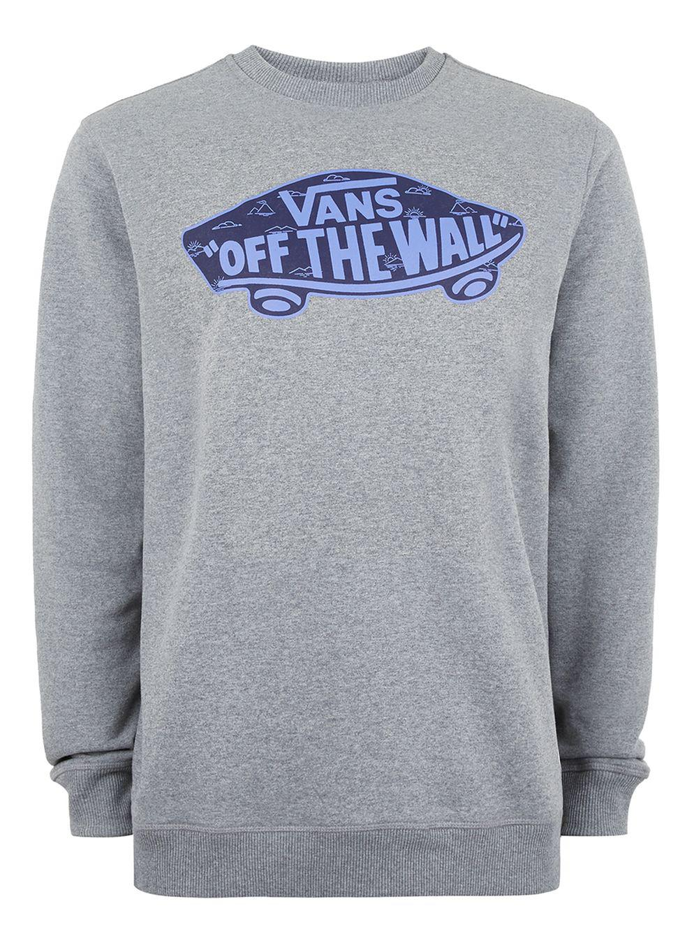 213a3c003dea6b TOPMAN Vans Grey  off The Wall  Sweatshirt in Gray for Men - Lyst