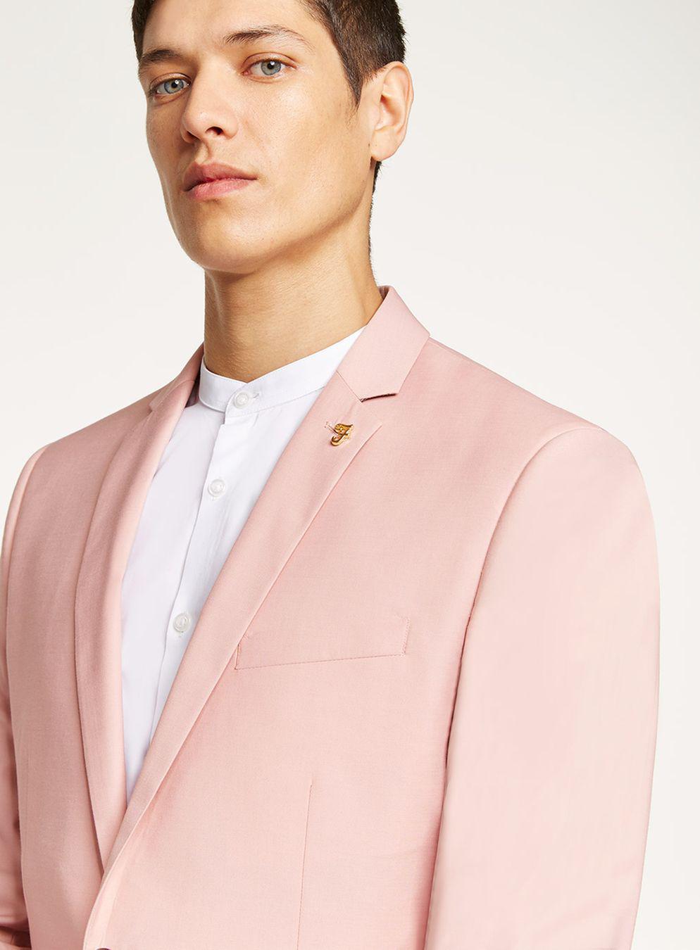 Topman Farah Pink \'henderson\' Blazer in Pink for Men - Lyst