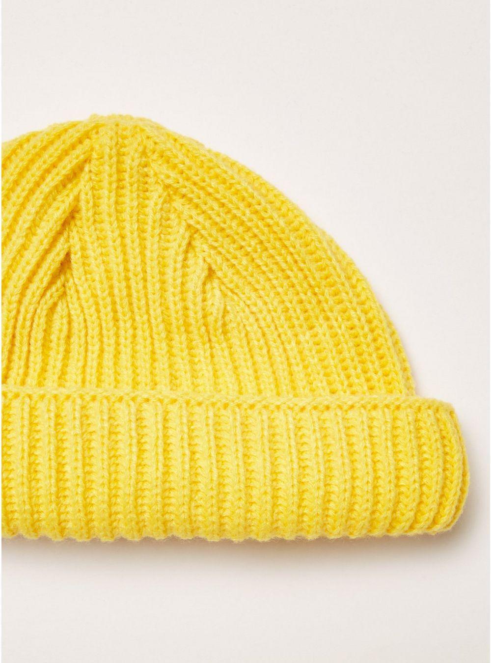 c62fc56bf80 TOPMAN Yellow Ribbed Docker Beanie in Yellow for Men - Lyst