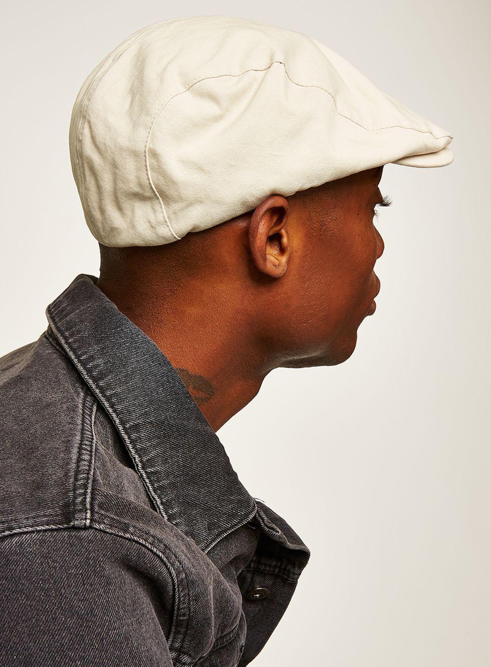 454979e9d82 Topman - Natural Stone Canvas Flat Cap for Men - Lyst. View fullscreen
