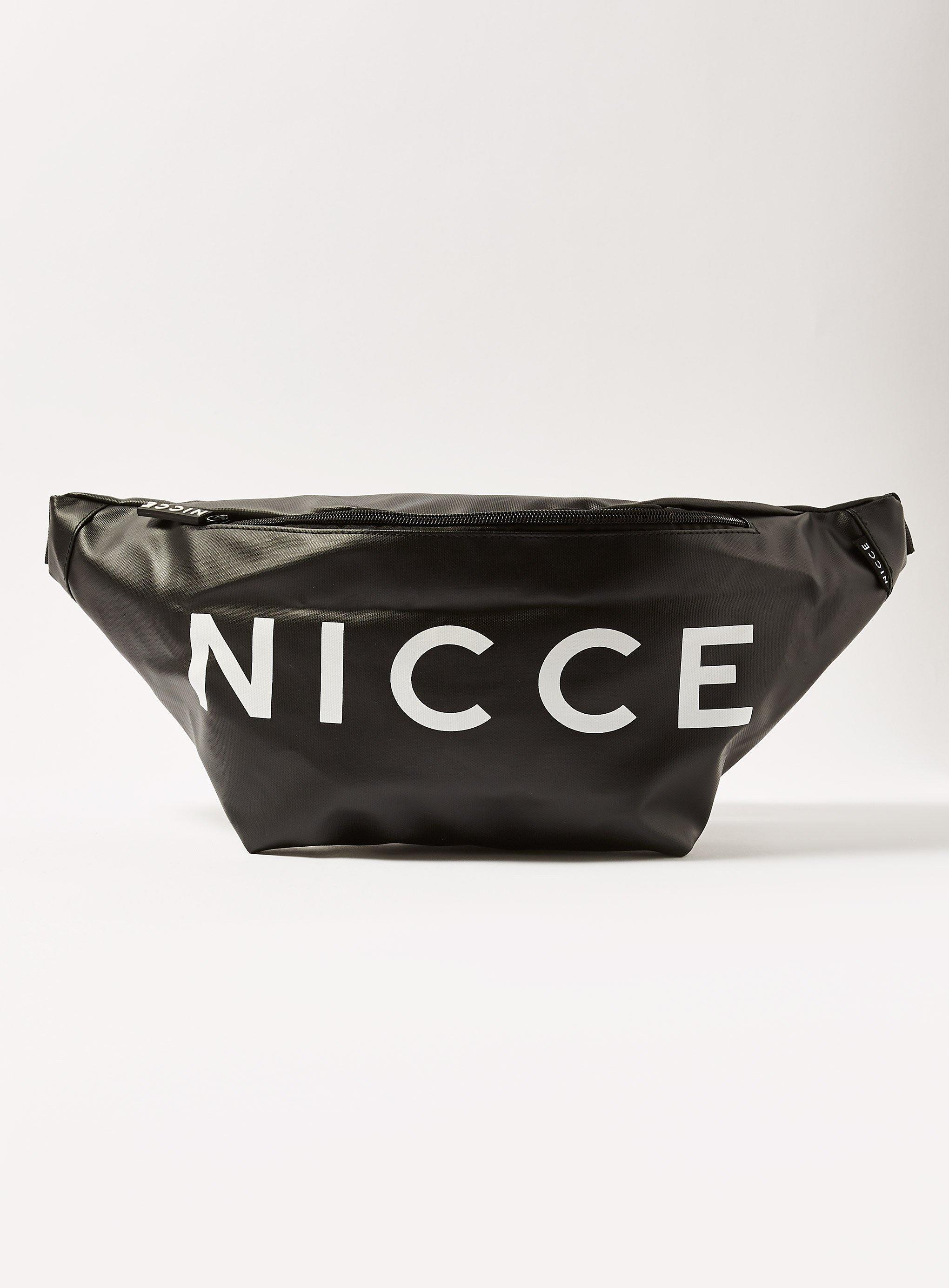 Lyst - Topman Nicce zero  Large Logo Cross Body Bag in Black for Men 604f73f07a224